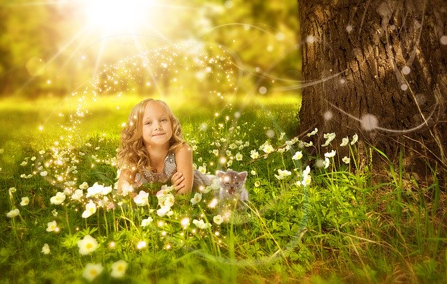 Dievčatko v prírode
