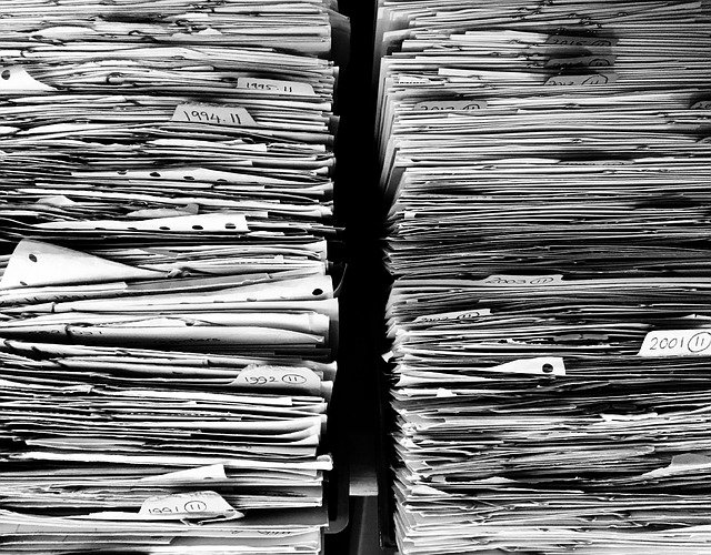 stoh papírů